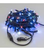 Светодиодная гирлянда НИТЬ влагозащищенная черный резиновый провод, ip54 LED-RUB100-10-220-SRGB-B