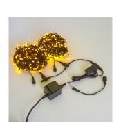 Светодиодная гирлянда на деревья ЛУЧ 2, черный провод, 24B. Трансформатор в комплекте. SP500-2x25-24