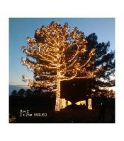 Светодиодная гирлянда на деревья ЛУЧ 2, черный провод, 24B. Трансформатор в комплекте SP500-2x25-24-