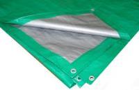 Тент Тарпаулин 6х240м 120г/м.кв Усиленный (зеленый)
