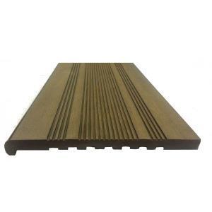 Профиль ступеней ДПК,  348мм*23мм/4м Полнотелый (массив) Цвет: коричневый