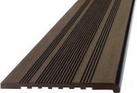 Профиль ступеней ДПК, Виндек 320мм*22мм /4м Полнотелый (массив) Цвет: коричневый