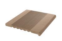 Профиль ступеней ДПК,  348мм*23мм /3м Полнотелый (массив) Цвет: шоколад