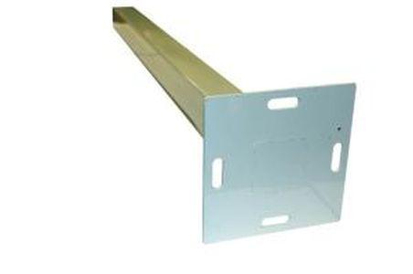 Металлическая опора столба MultiDeck Railing (основание 120 Х120мм), L=1м. , в комплекте 1шт.