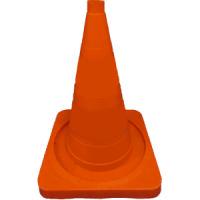 Конус сигнальный КС-2.2 520мм упругий без полос (Оранжевый) квадратное основание