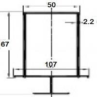 Н-профиль / РDV-1112 / 67х107х2,2 мм , (L=3м) Кварц