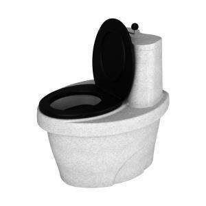 """Туалет торфяной """"Rostok"""" с термосиденьем белый гранит"""