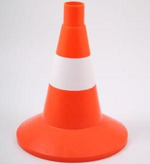 Конус дорожный КС-1.6 32см упругий с 1 светоотражающей полосой оранжевый