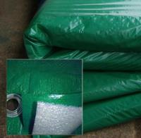 Полог тарпаулин зеленый 120 гр. 4х15м. утепленный (изолон 5 мм) м2