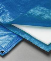 Полог тарпаулин синий 180 гр. 4х20м. утепленный (изолон 5 мм) м2