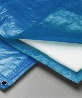 Полог тарпаулин синий 180 гр. 8х10м. утепленный (изолон 5 мм) м2
