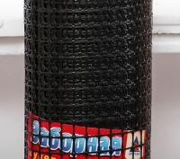 Заборная решетка пластиковая ЗР-15 20*20 1*20м (черный)