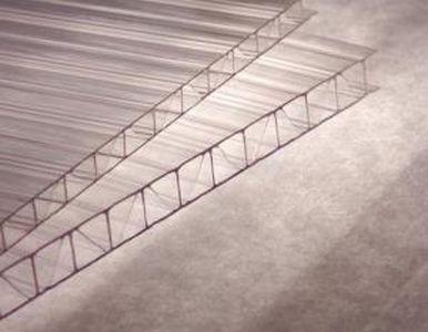 """Сотовый поликарбонат 4мм CARBOGLASS """"Премиум/Усиленный"""" 6м.Х2.1м. Прозрачный"""