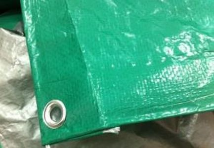 Тент Тарпаулин 10х12 120 г/м2  шаг люверса 1м. Зеленый