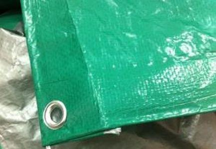 Тент Тарпаулин 10х15 120 г/м2  шаг люверса 1м. Зеленый