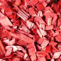 Щепа декоративная, красная, 60л., мешок