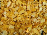 Щепа декоративная, желтая, 60л., мешок