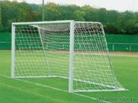 Сетка для футбольных ворот 5х2х1х1.5м (нить 3мм) Белая (пара)