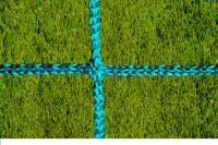 Заградительная сетка . безузловая . зеленая . нить: 4мм (за 1кв.м)