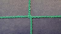 Заградительная сетка . безузловая . зеленая . нить: 2.2мм ячейка 4х4см (за 1кв.м)