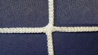 Заградительная сетка . узловая . белая . нить: 3мм ячейка 4х4см (за 1кв.м)