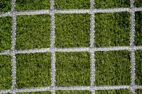 Заградительная сетка . безузловая . зеленая . нить: 4мм ячейка 4х4см (за 1кв.м)
