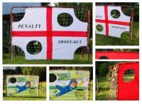 Ворота для мини-футбола с экраном, разборные (красные)