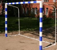 Ворота для мини-футбола со стаканами 3х2х1х1м бело-синие