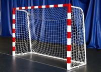 Ворота для мини-футбола улучшенные 3х2х1х1 м бело-красные