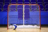 Ворота хоккейные, разборные 1,37х1,12х0,26х0,62 м красно-белые