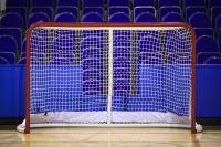 Ворота хоккейные, разборные 1,83х1,22х0,50х0,90 м красно-белые