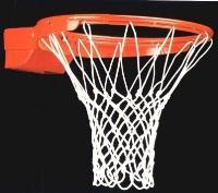 Кольцо баскетбольное амортизационное професcиональное 45см, №7 мм Сетка в комплекте!
