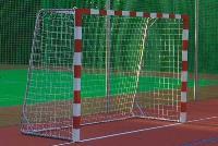Сетка для мини футбола/гандбола  3х2х1х1,5 м (нить 2.2мм) Белый (пара)