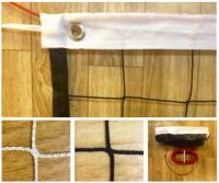 Сетка для волейбола 1х9.5 м (нить 3мм) Белая  (трос,люверсы, зажим и коуш)