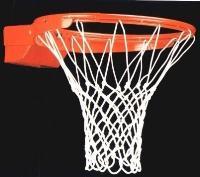 Сетка для баскетбольных колец . Толщина нити: 6 мм Белая (пара)