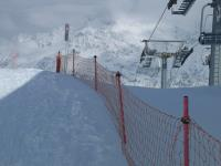 Сетка разграничительная для горнолыжной трассы 1,5х50м нить 2.5мм Красная