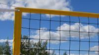 Сетка для пляжного волейбола  1х8.5 м нить 3мм черный, стропа желтая