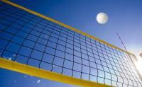 Сетка для пляжного волейбола  1х8.5 м нить 3мм черный, стропа желтая + металл.трос