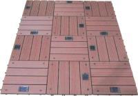 Садовый паркет 300х300х25мм, серия CLASSIC с ПОДСВЕТКОЙ (широкие полоски) цвет: Рябина (1шт))