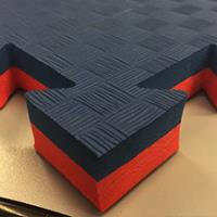 Будо Мат EVA 25мм. 1х1м / цвет:Красно-Черный