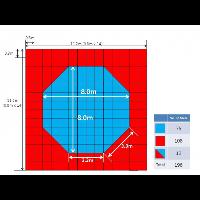 Корт (додянг) 25мм восьмиугольный соревновательный 11,2х11,2 м