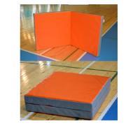 Гимнастический мат (тент) в 2 сложения - 1х2м (в разложенном виде) Оранжевый