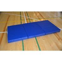 Гимнастический мат 2х3м (в разложенном виде)  иск. кожа /в 3 сложения / Синий