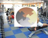 Модульное покрытие EVA для залов аэробики и йоги 55 Шор 1х1х0,001м Серый