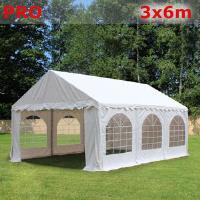 Шатер Giza Garden 3x6м белый PRO (высота стенок 2.4м./в коньке: 3.7м)