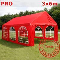 Шатер Giza Garden 3x6м красный PRO (высота стенок 2.4м./в коньке: 3.7м)