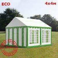 Шатер Giza Garden 4 x4м зелено-белый (высота стенок 2.6м./в коньке: 3.1м)
