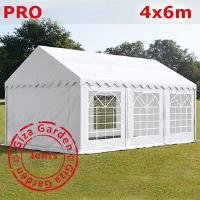 Шатер Giza Garden 4 x6м белый PRO (высота стенок 2.4м./в коньке: 3.7м)