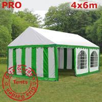 Шатер Giza Garden 4 x6м зелено белый PRO (высота стенок 2.4м./в коньке: 3.7м)