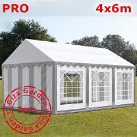 Шатер Giza Garden 4 x6м серо белый PRO (высота стенок 2.4м./в коньке: 3.7м)